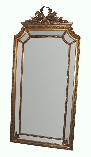 Large French Giltwood Mirror