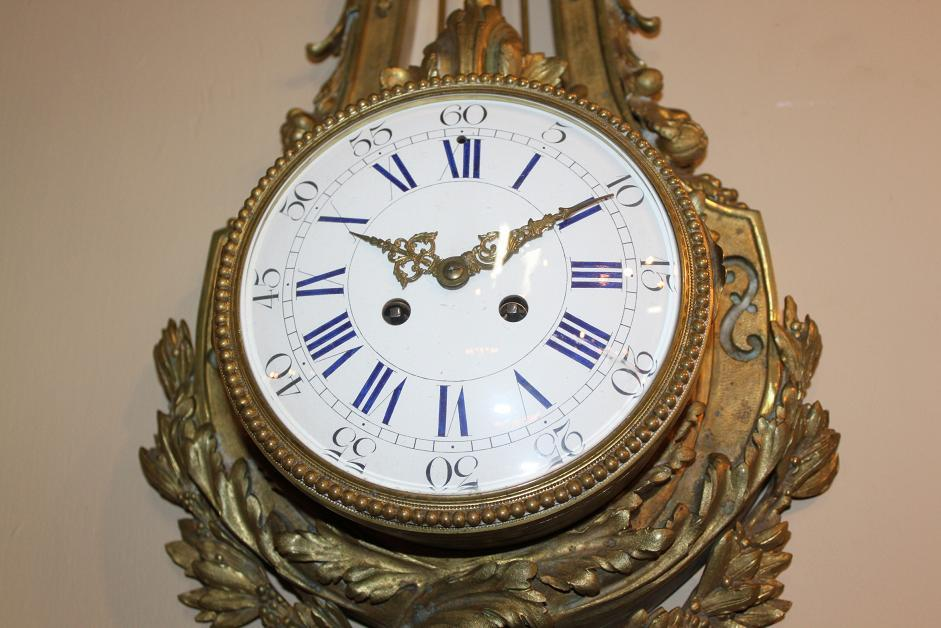 French Bronze Cartel Clock