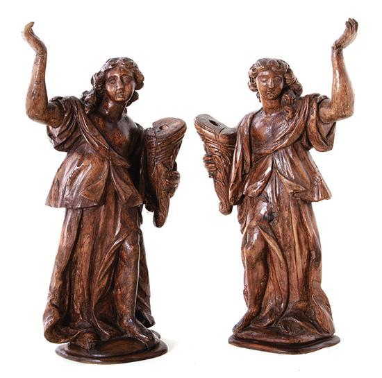 Pair 18th Century Italian Figures