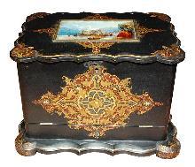English Lacquered Stationary Box