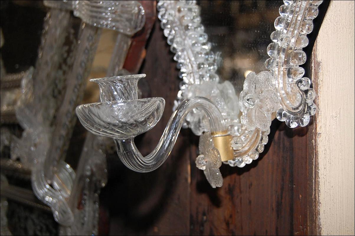 Petite Pair Venetian Style Sconces