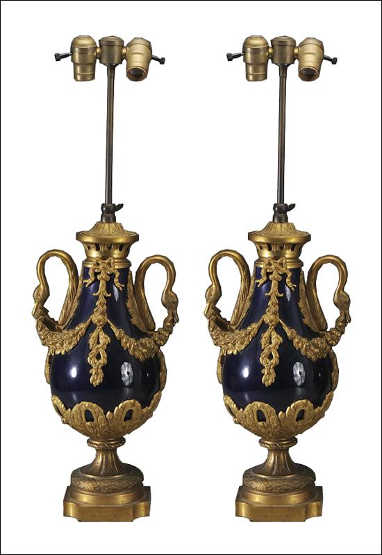 French Cobalt & Bronze Cassollettes