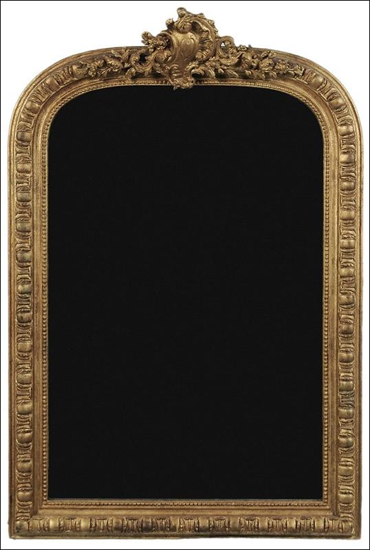 Petite Transitional Giltwood Mirror