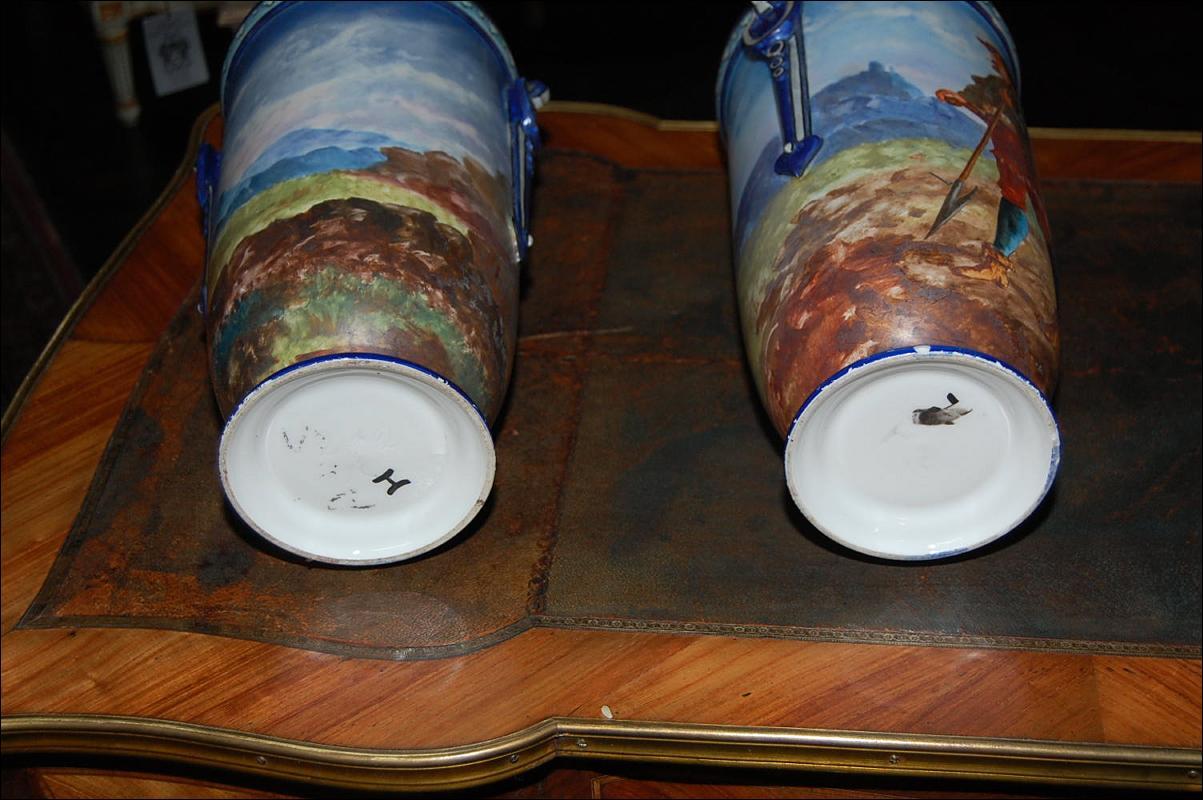 Pair Continental Porcelain Vases