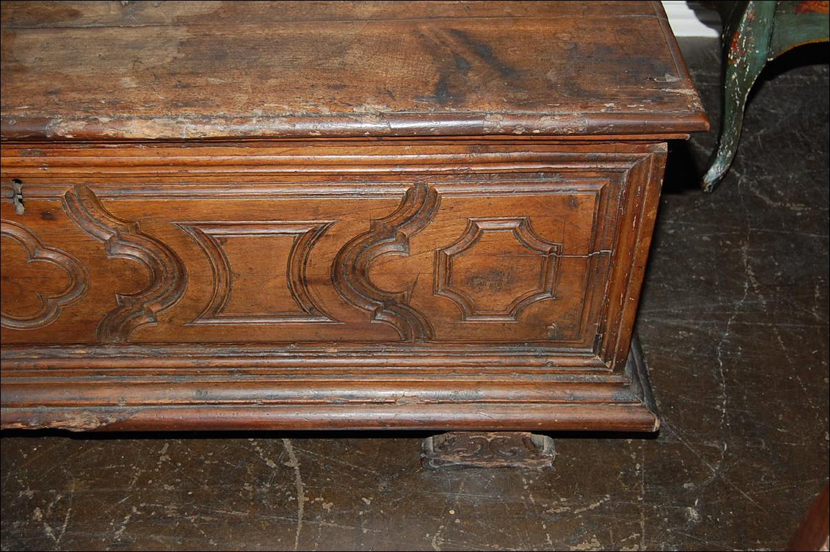 18th Century Italian Carved Trunk