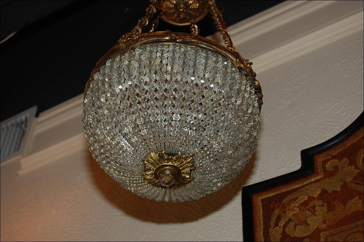 Petite French Basket Chandelier