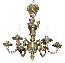 Figural Bronze Chandelier