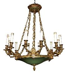French Bronze Empire Chandelier