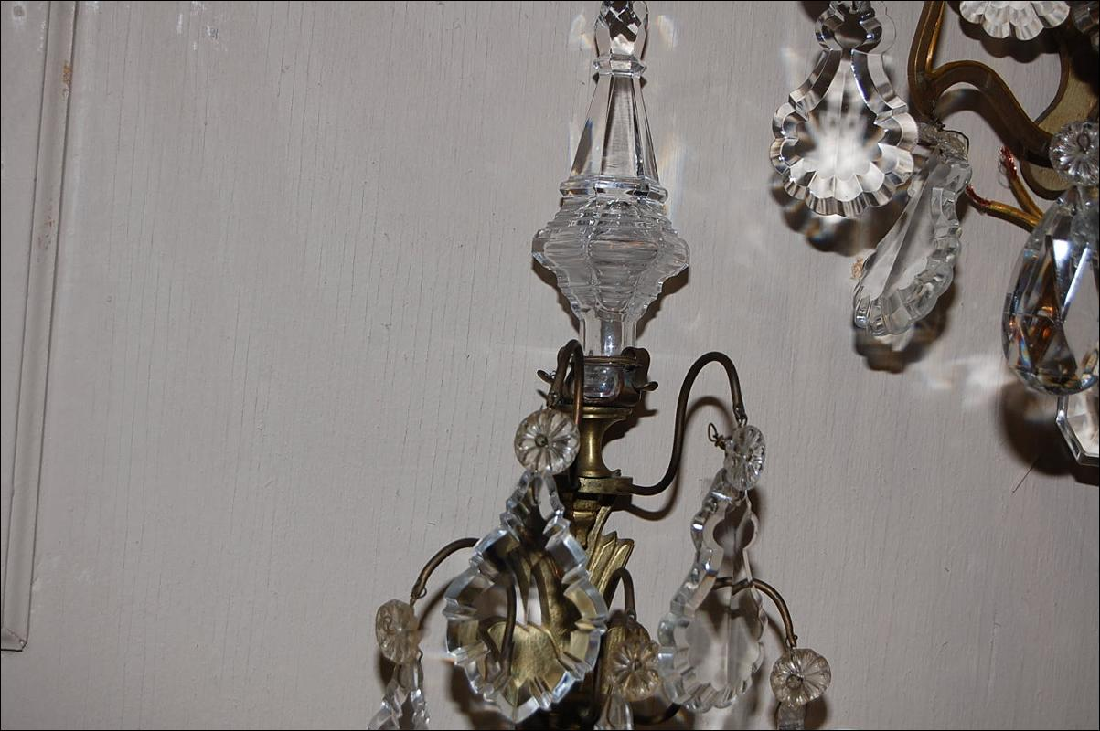 Set of Crystal Sconces