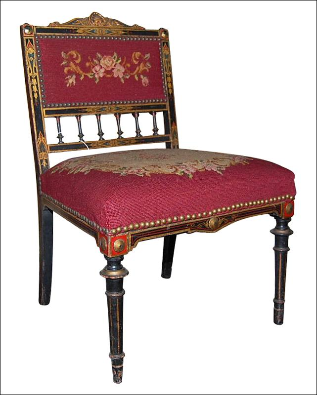 Petite Needlepoint Chair