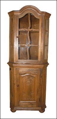 French Oak Corner Cabinet