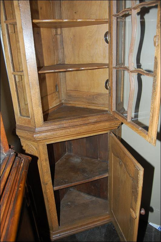 French Oak Corner Cabinet