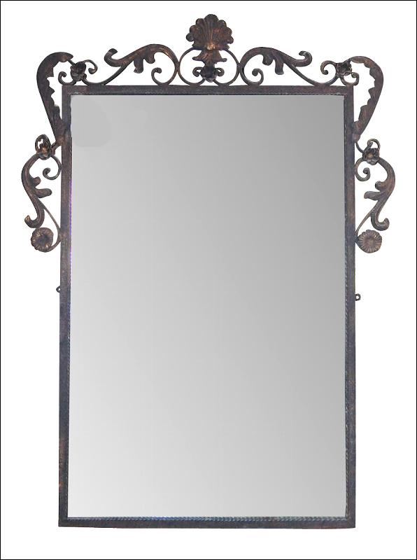 Decorative French Style Iron Mirror