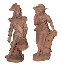 Antique Terra Cotta Statues