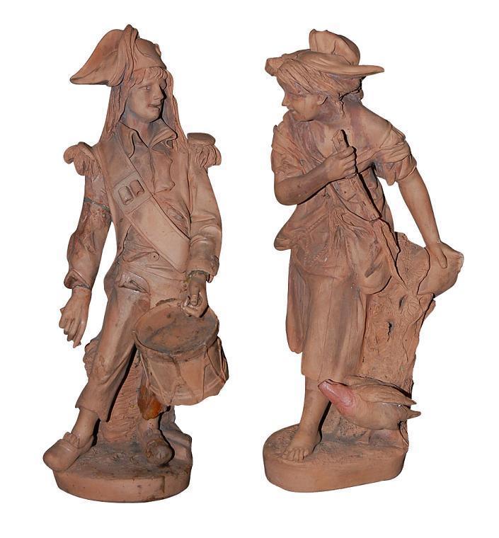 Antique Terra Cotta Statues