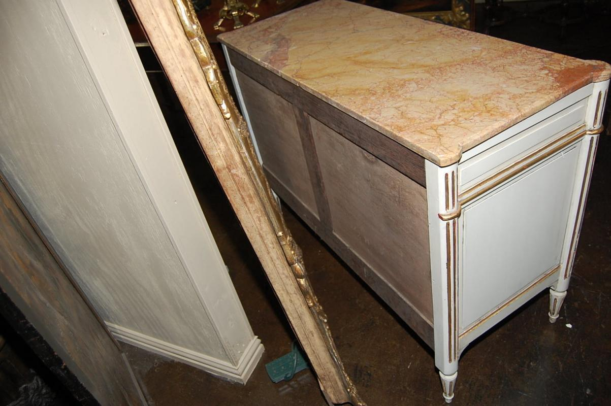 Painted Jansen Style Commode