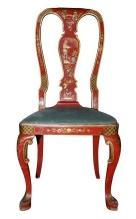 Decorative Chinoiserie Desk Chair