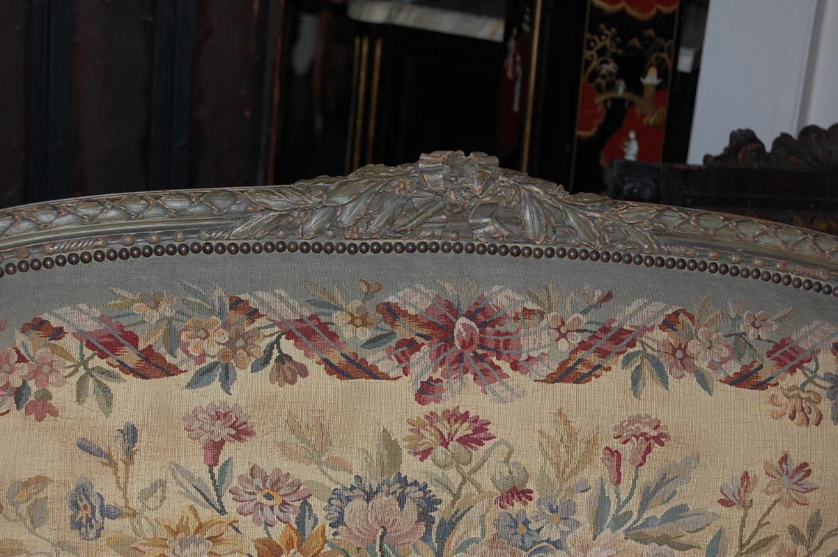 French Louis XVI Aubusson Settee