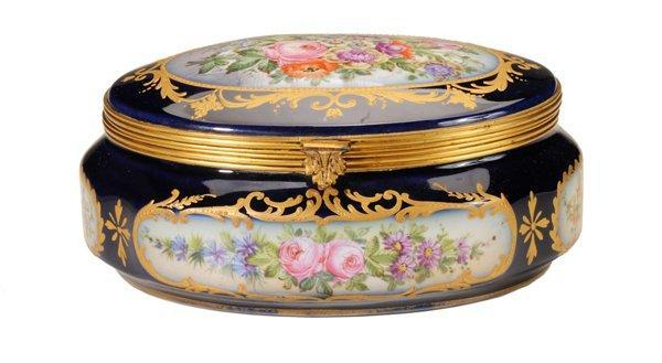 Dresden Gilt Hand Painted Casket