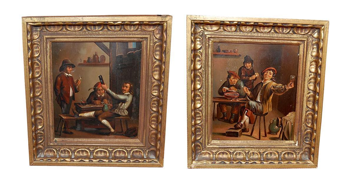 Pair Dutch Copper Paintings