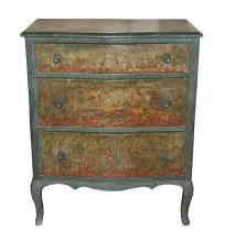 Petite Continental Painted Chest