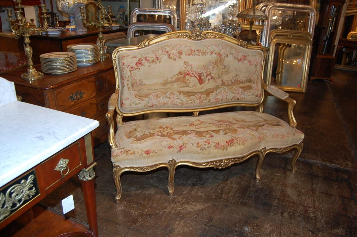 Exceptional Louis XV Aubusson Settee