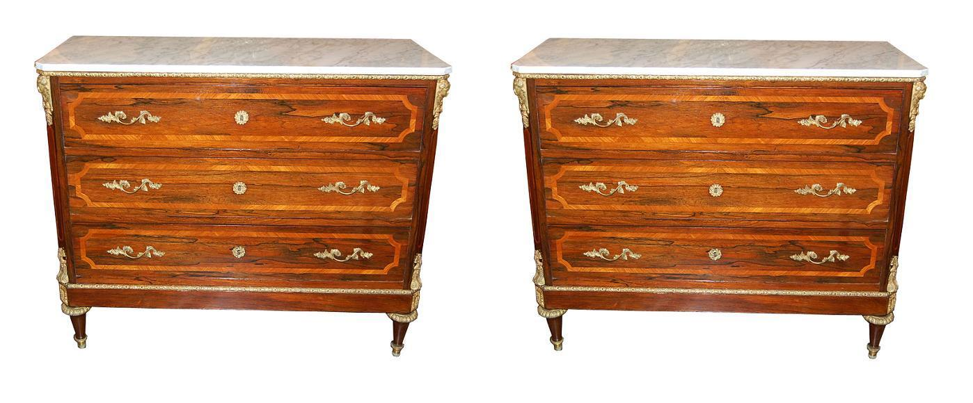 Exceptional Pair 19th Century Commodes