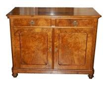 Continental Burl Walnut Buffet