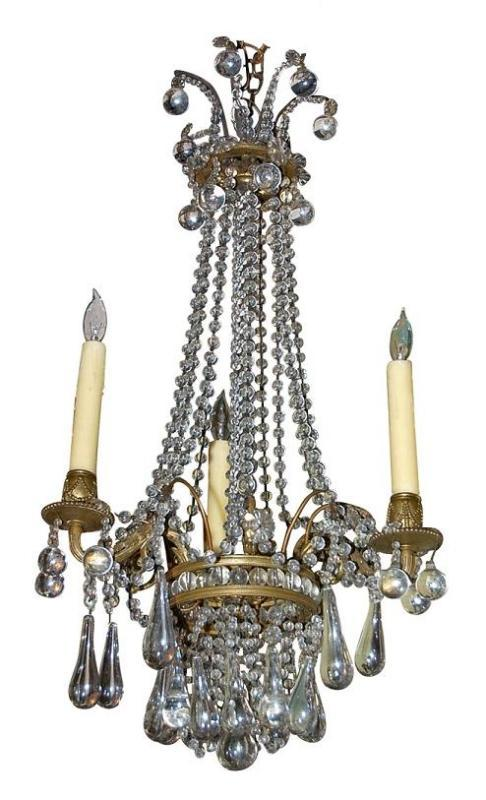 Unusual Italian Crystal Chandelier
