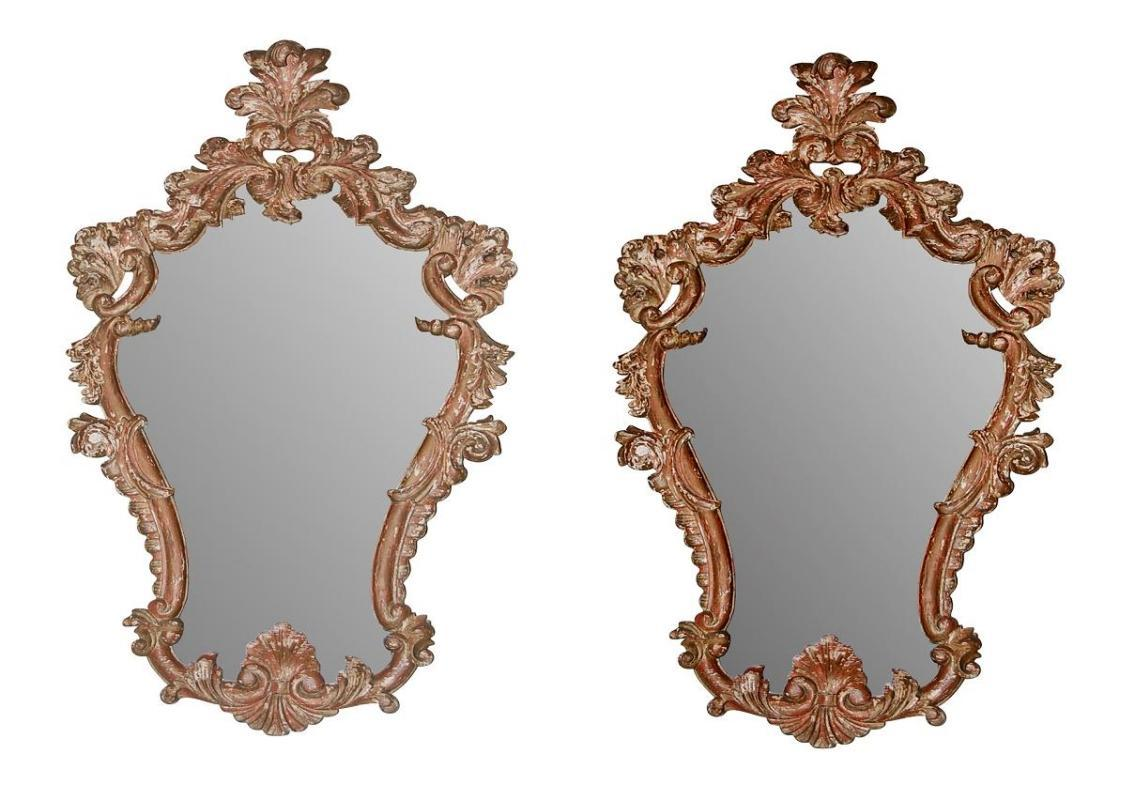19th Century Italian Carved Mirrors