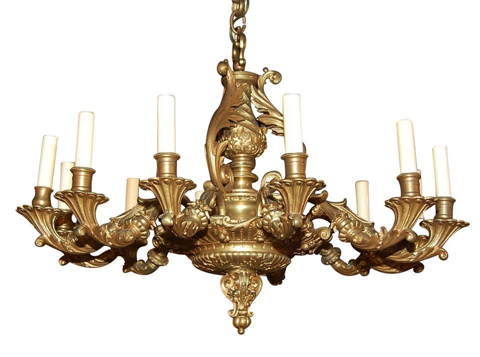 Bronze Louis XV Chandelier