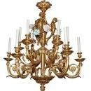 Italian Gilt Bronze Chandelier