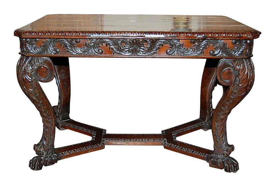 Mahogany Continental Center Table