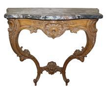 French Antique Stripped Console