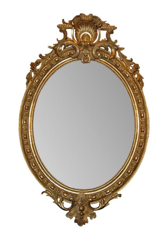 Louis XV Oval Mirror