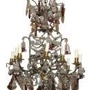 French Crystal & Amethyst Chandelier