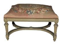 French Louis XVI Needlepoint Bench