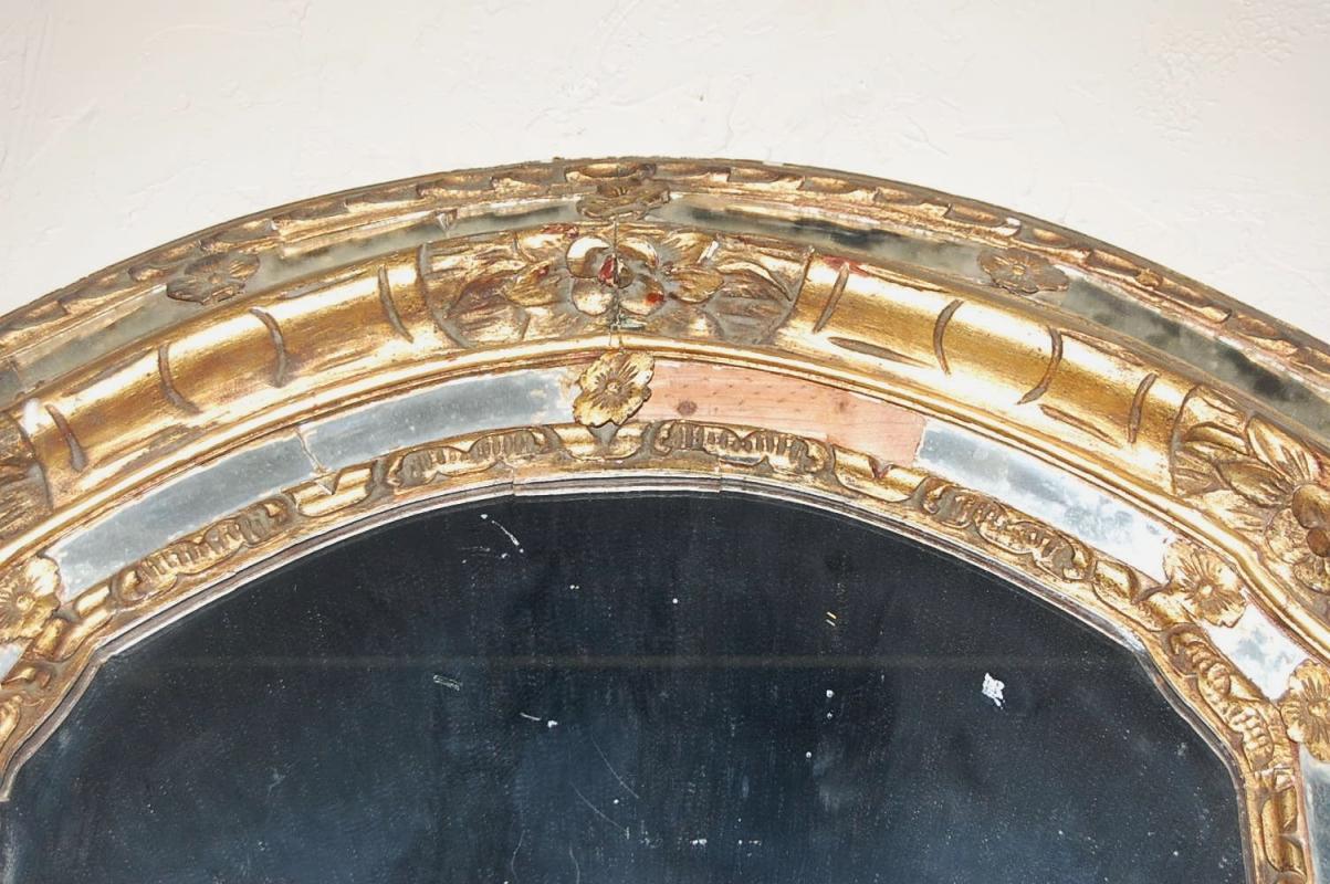 Heavy Antique Giltwood Mirror