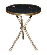 Petite Bronze & Granite Side Table