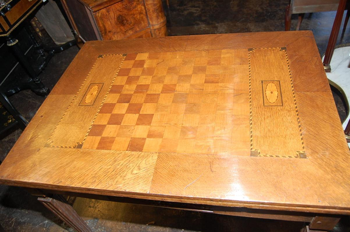 French Oak Games Table