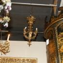 Petite French Bronze Cherub Chandelier