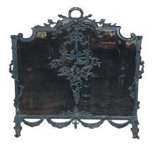 Painted Bronze Fire Screen