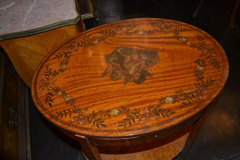 Edwardian Satinwood Occasional Table