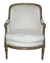 19th Century French Louis XVI Bergere