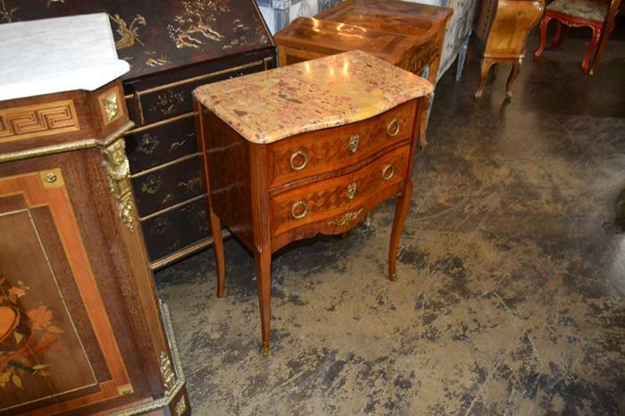Louis XV Parquetry Commode