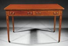Edwardian Inlaid Partner's Desk