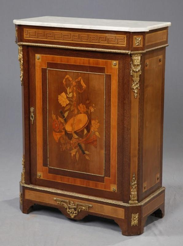 French Marquetry Inlaid Server