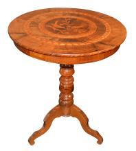 Italian Inlaid Occasional Table