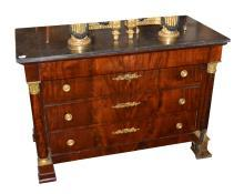 French Mahogany Empire Commode