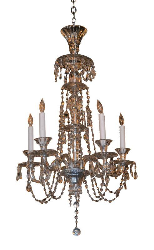 19th Century Swiss Crystal Chandelier